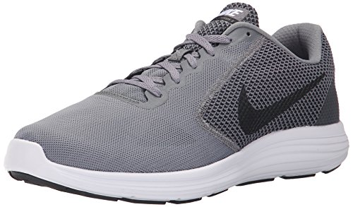NIKE Men's Revolution 3 Running Shoe, Cool Grey/Black/White, 11.5 D(M) (White Shoes Trainers)