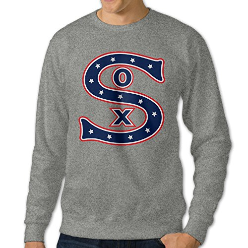 [BestGifts Men's Chicago Sport Baseball Sox Crewneck Sweatshirts Ash Size M] (Assassins Creed Unity Costume Customization)