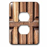 3dRose Alexis Photography - Texture Wood - Detail of a vintage grunge wooden door - Light Switch Covers - 2 plug outlet cover (lsp_271991_6)