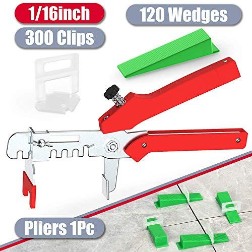 """YEFU Tile Leveling System 1/16"""" Kit Include 300 pcs Tile"""