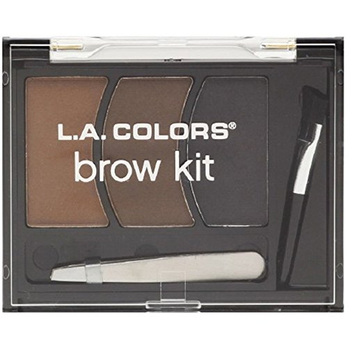 L.A. Colors BEAUTY 21 COSMETICS - BROW KIT MEDIUM (Best Drugstore Brow Kit)