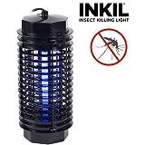 Inkil ig104216–Lampada antizanzare elettrico, luce UV, Fulmina Insetti, senza additivi chimici, 32m², Cilindro, 4W, 220V, colore: nero