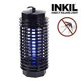 Inkil IG104216 - Lámpara antimosquitos eléctrica, luz uva, fulmina insectos, sin sustancias químicas, 32 m² (cilindro, 4 W, 220 V) color negro