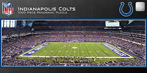 Indianapolis Colts 1000 Piece Panoramic Stadium Jigsaw Puzzle 39 x 13in