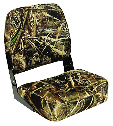 Wise Super Value Series Folding Boat Seat, Realtree Max 5 Camo