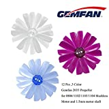quad copter propeller - 12PCS Gemfan 2035 Propeller 2x3.5x4 4 Blades BN-PC 1.5mm Mounting Hole CW CCW Propeller for Micro Quadcopters 80-110 FPV Frame 1103 1104 1105 1106 Brushless Motor