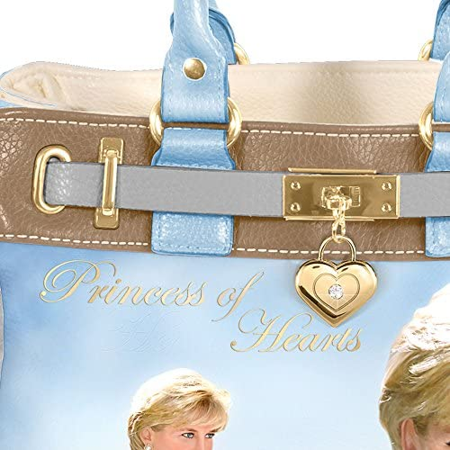 'Diana, Princess Of Hearts' Handbag Handcrafted Bag Design Honouring The Princess of Hearts, Diana With Full-colour Artwork, Exclusive to The Bradford Exchange!