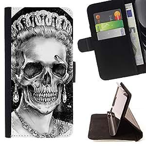 Momo Phone Case / Flip Funda de Cuero Case Cover - Dios reina Corona Cráneo Muerte Inglaterra - Sony Xperia Z5 Compact Z5 Mini (Not for Normal Z5)