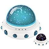 UFO LED Starry Night Light DONGSHEN 360 Degree Romantic Rotating...