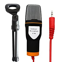 Artempo Microphone and Pop Filter kit,Professional Condenser Sound Microphone with Stand and Pop Filter for Microphone withWind ScreenSwivel Mount 360 Flexible Gooseneck Holder Color Black