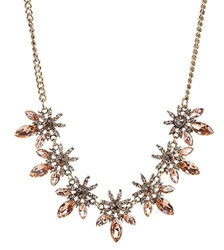 HONEYJOY Elegant Leaf Shape Chain Link Necklace For Women (Spider Bracelet Halloween Craft)