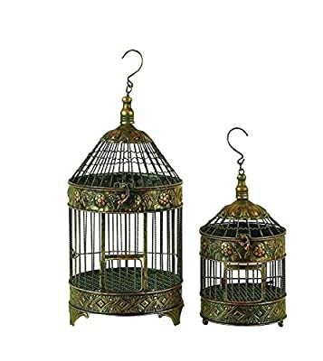 Deco 79 Metal Bird Cage, 24-Inch and 16-Inch, Set of 2 by UMA Enterprises - LG