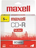 Maxell 625132 Recordable Cd (Audio Only) Slim Jewel