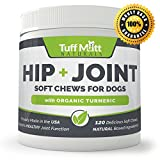 Dog Supplements for Joints, Natural Soft Chews Support Health of Hip and Joint Function, Glucosamine Chondroitin, Organic Turmeric, MSM Eases Pain Relief, Inflammation, Small to Large Breeds 120-Count