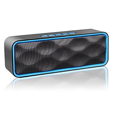 Altavoz Bluetooth Inalámbrico ZoeeTree S1, Altavoz Estéreo Portátil Para Exteriores con Audio HD y Graves Mejorados, Altavoz de Doble Controlador Integrado, Altavoces Bluetooth 4.2, Llamadas Manos Libres, Radio FM y Ranura para Tarjetas TF