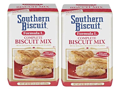 Southern Biscuit Formula L Complete W/golden Shortening Flakes Biscuit Mix, 2-52 Oz. Pkgs (Best Southern Buttermilk Biscuits)