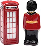 CG 20717 Traditional English Guard & Telephone Booth Salt & Pepper Shakers