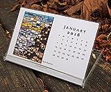 2018 Desk Calendar Stained Glass Photos CD Case Office Decor