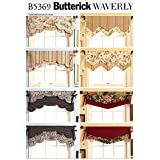 Butterick Patterns B5369 Fast & Easy Reversible Valances, All Sizes