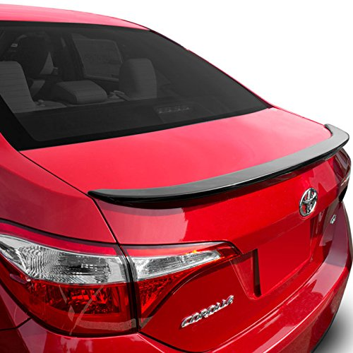 Dawn Enterprises COR14-FM Factory Style Flush Mount Spoiler Compatible with Toyota Corolla - Matte Black (MB)