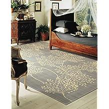 "Nourison Capri (CAP1) Slate Rectangle Area Rug, 3-Feet 6-Inches by 5-Feet 6-Inches (3'6"" x 5'6"")"
