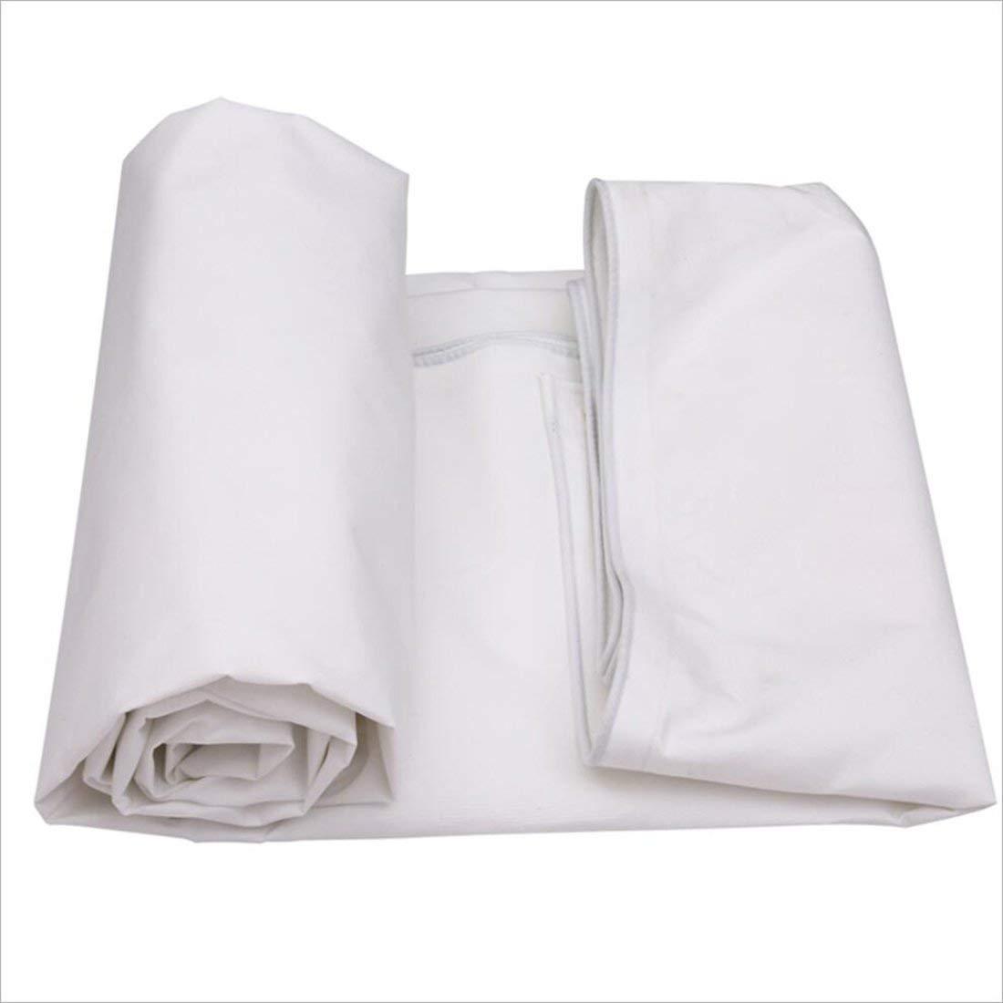 キャンバス雨防水日焼け止めサントラックキャンバスキャノピー布 (Color : 白, サイズ : 4m × 6m) 4m × 6m 白 B07P9HVJQN