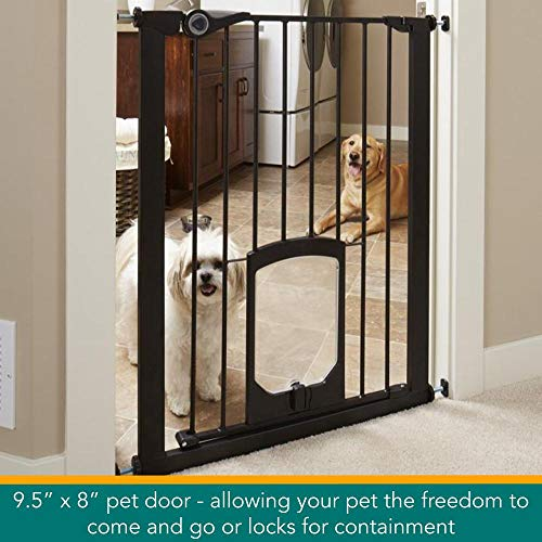 North States Pet Gate with Lockable Pet Door