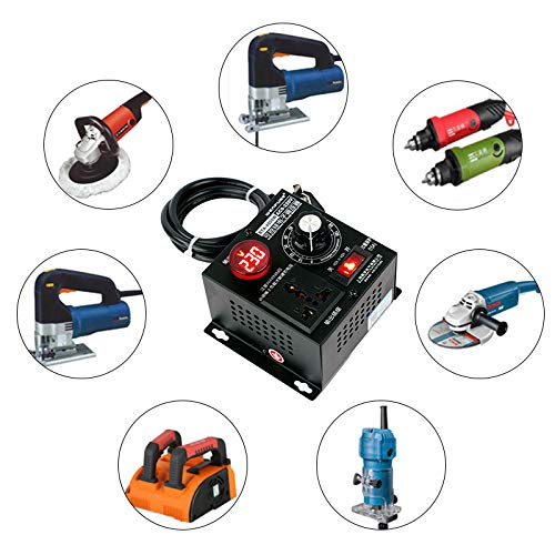 SCR Regulador de voltaje el/éctrico,CA 220 V 4000 W regulador de revoluciones del ventilador,regulador de intensidad de luz,control de temperatura del motor