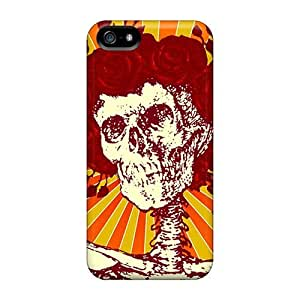 Scratch Resistant Hard Phone Cover For Iphone 5/5s (hOD8559RASS) Unique Design Beautiful Grateful Dead Series