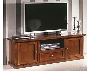 PORTA TV IN LEGNO CON 2 PORTE E 1 CASSETTO DA L160 P45H56: Amazon.it ...