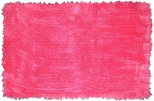 - LA Rug FLK-003 Fun Rugs Flokati Area Rug, 3 by 5-Feet, Hot Pink