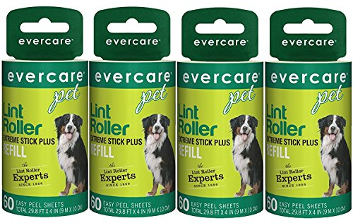 Evercare Extra Sticky Pet Lint Roller Refill 60 sheets - Pack of 4]()