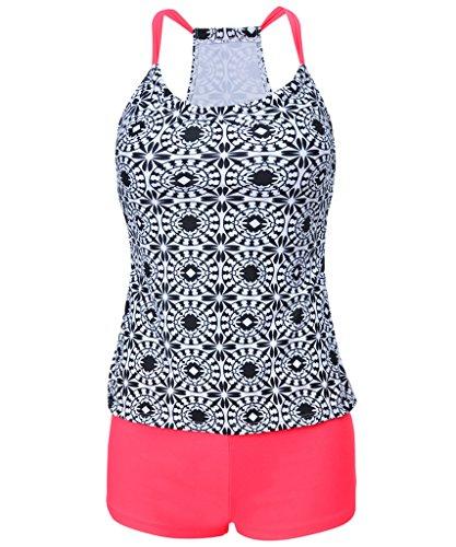 Milkuu Women's Two Piece Tankini Sets Tops Swimwear With Boyleg Swim Short