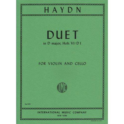 Haydn, Franz Joseph - Duet in D Major, Hob VI:D1 - Violin and Cello - International Edition