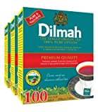 Dilmah Premium 100% Pure Ceylon Tea, 100-Count Tea Bags (Pack of 3)