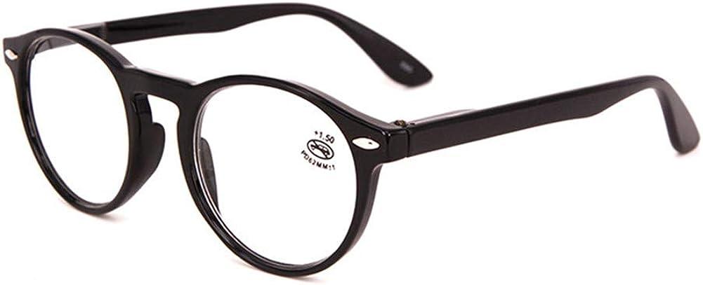 Occhiali da Vista Lettura Presbiopia Graduati Tartaruga Fashion Leggeri Patterned Tondo occhiali da lettura ingrandimento Uomo Donna Aste con Cerniere con Molla