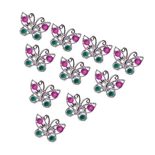 10pcs Anneaux En Plastique Papillon Pour Cadeaux De Faveur Fille enfants