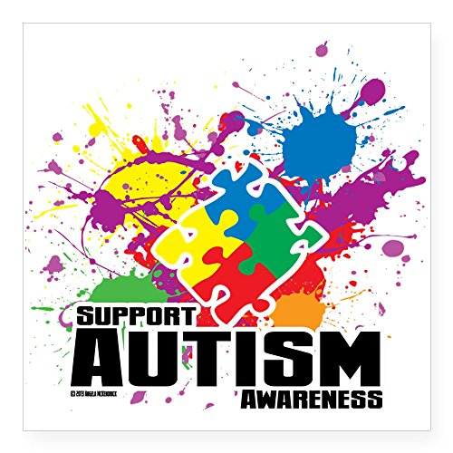 CafePress Autism Splatter Sticker Square