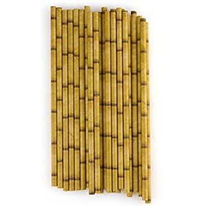 "Bamboo Paper Straws (24 Pack) 7 3/4"""