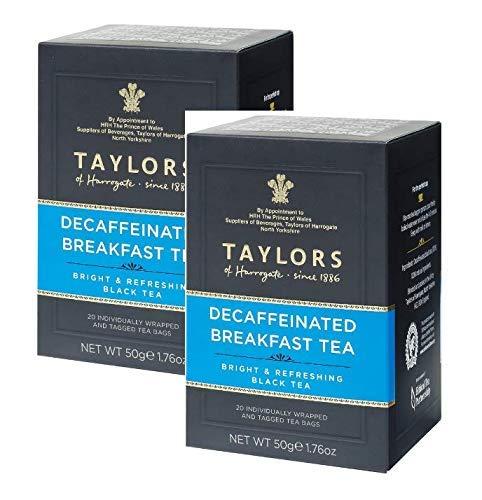 Taylors of Harrogate Te negro descafeinado brillante y refrescante - 2 x 20 bolsitas de te (100 gramos)