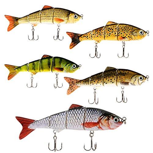 Isafish Fishing Lure 4 Sections Swimbait Bait Tackle