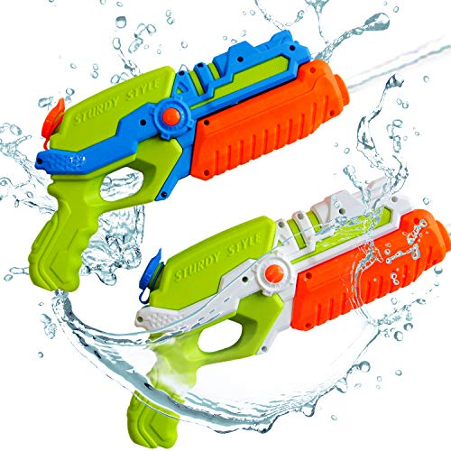 ToyerBee Water Guns for Kids, 2 Pack Squirt Guns Water Toys -Shoots Up to 35 Ft -for 4.5.6.7 Year Old Kids& Boys& Girls& Adults, Pools Party& Water Fight