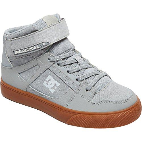 DC Boys' Pure High-Top EV Skate Shoe, Grey/Gum, 11 M US Little Kid