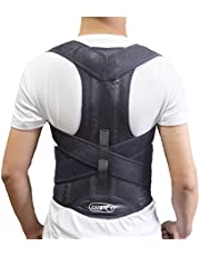 Back Brace Posture Corrector | Best Fully Adjustable Support Brace | Improves Posture and Provides Lumbar Support | for Lower and Upper Back Pain | Men and Women (M)