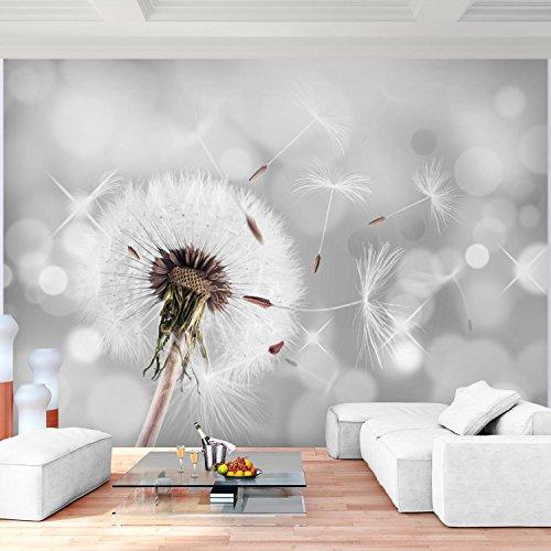 Fototapete Pusteblumen Grau 396 X 280 Cm Vlies Wand Tapete Wohnzimmer Schlafzimmer Buro Flur Dekoration Wandbilder Xxl Moderne Wanddeko Flower 100