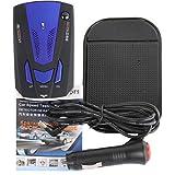 Nesee Radar Detector,Voice Alert 360 Degree Car 16 Band V7 GPS Speed Police Safe Radar Detector (Blue)