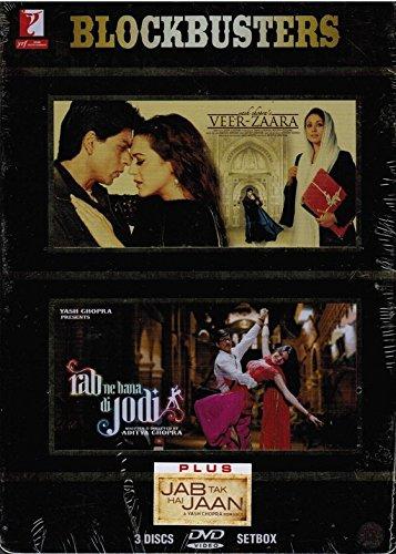 Veer-Zaara / Rab Ne Bana Di Jodi / Jab Tak Hai Jaan (Tin Box Set) Brand New set of 4 dvds, Hindi Langauge, With English Subtitles, Released By YRF Home Entertainment)