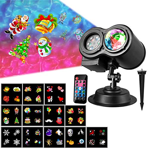 Water Wave Christmas Light Projector, LED Halloween Light