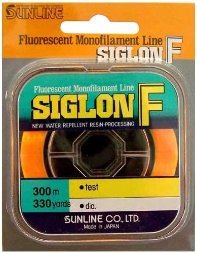 SUNLINE SIGLON F FLOURESCENT MONOFILAMENT LINE 4# TEST 330 YARDS ORANGE