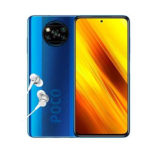 chollos oferta descuentos barato Xiaomi Poco X3 NFC Smartphone 6 64GB 6 67 FHD cámara Frontal con Punch Hole Snapdragon 732G 64MP AI Quad cámara 5160mAh Color Azul Cobalto versión española